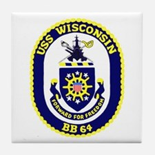 USS Wisconsin (BB 64) Tile Coaster