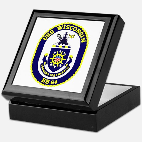 USS Wisconsin (BB 64) Keepsake Box