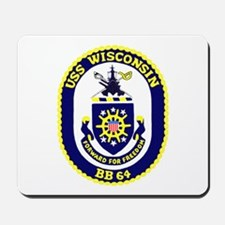 USS Wisconsin (BB 64) Mousepad