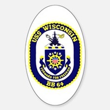 USS Wisconsin (BB 64) Oval Decal