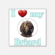"""I Love My Briard Square Sticker 3"""" x 3"""""""