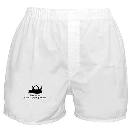Montana Cow Tipping Boxer Shorts