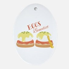 Eggs Benedict Oval Ornament