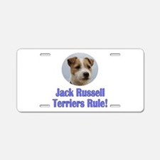 Jack Russell Terriers Rule Aluminum License Plate