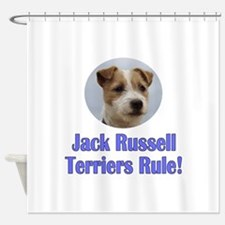 Jack Russell Terriers Rule Shower Curtain