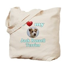 I Love My Jack Russell Terrier Tote Bag