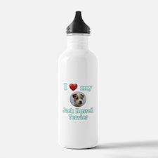 I Love My Jack Russell Water Bottle