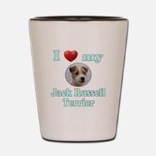 I Love My Jack Russell Terrier Shot Glass