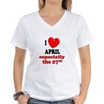April 27th Women's V-Neck T-Shirt