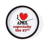 April 27th Wall Clock