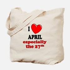 April 27th Tote Bag