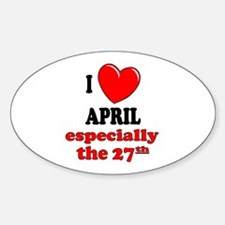 April 27th Oval Decal
