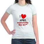 April 27th Jr. Ringer T-Shirt