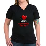 April 27th Women's V-Neck Dark T-Shirt