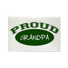 Proud Grandpa (green) Rectangle Magnet