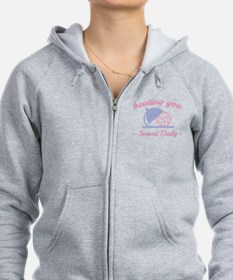 Beating You In Volleyball Zip Hoodie