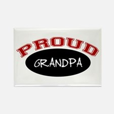 Proud Grandpa (red & black) Rectangle Magnet