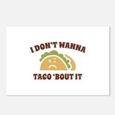 I Don't Wanna Taco 'Bout It Postcards (Package of