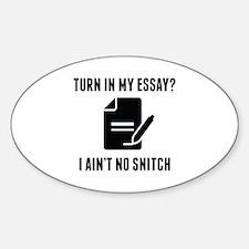 Turn In My Essay? Decal