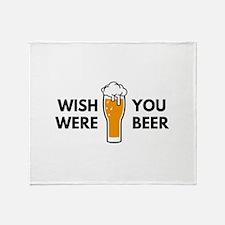 Wish You Were Beer Stadium Blanket