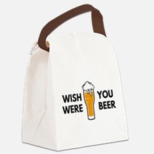Wish You Were Beer Canvas Lunch Bag