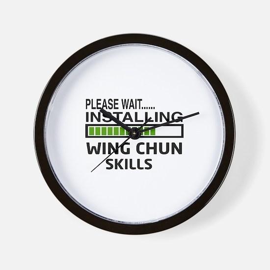 Please wait, Installing Wing Chun skill Wall Clock