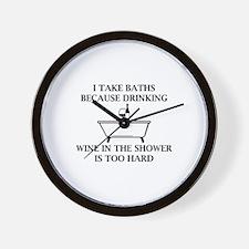 I Take Baths Wall Clock