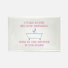 I Take Baths Rectangle Magnet (10 pack)