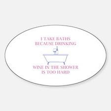 I Take Baths Decal