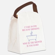 I Take Baths Canvas Lunch Bag