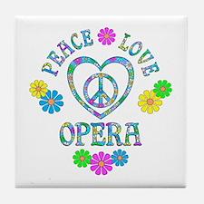 Peace Love Opera Tile Coaster
