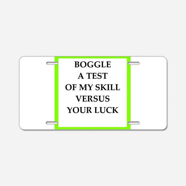 boggle Aluminum License Plate