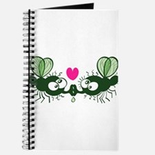 Ugly flies kissing and falling in love Journal