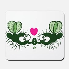 Ugly flies kissing and falling in love Mousepad