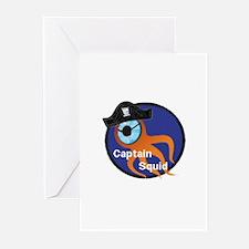Captain Squid Greeting Cards (Pk of 20)