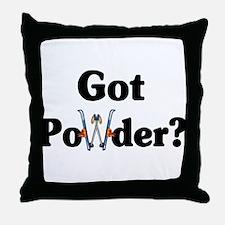 Got Powder? Ski Throw Pillow