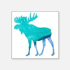 Turquoise and Blue Moose Sticker