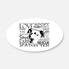 Unique Spay Oval Car Magnet