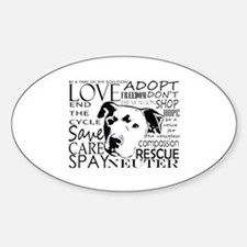Funny Spay neuter Sticker (Oval)