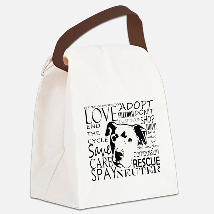 Cute Adopt Canvas Lunch Bag