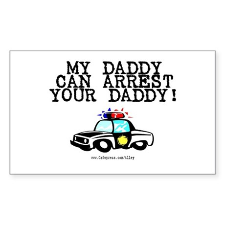 Daddy Cop Rectangle Sticker