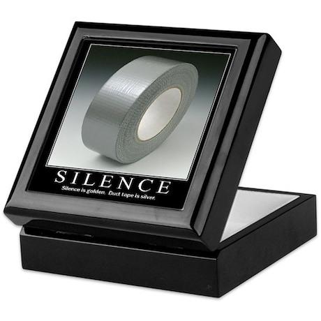 Motivational - Silence Keepsake Box