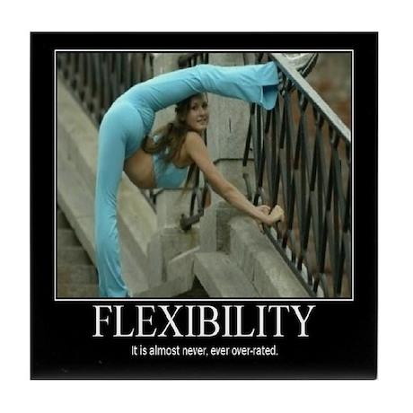 Motivational - Flexibility Tile Coaster