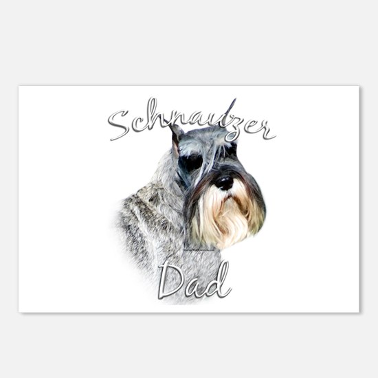 Std. Schnauzer Dad2 Postcards (Package of 8)