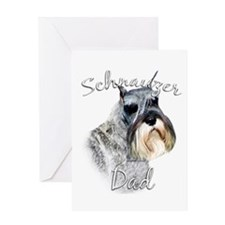 Std. Schnauzer Dad2 Greeting Card