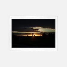 Barn sunset 5'x7'Area Rug