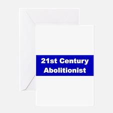 21st Century Abolitionist Greeting Card