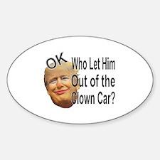 Cute Clown car Decal