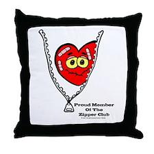 Cute Zipper club Throw Pillow