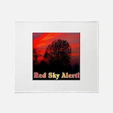 Red Sky Alert! Throw Blanket